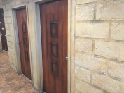 faux finished doors and walls