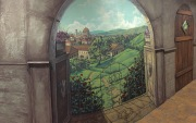 pano of courtyard mural